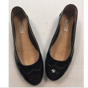 Rag & Bone dark grey patent leather ballet flats 8